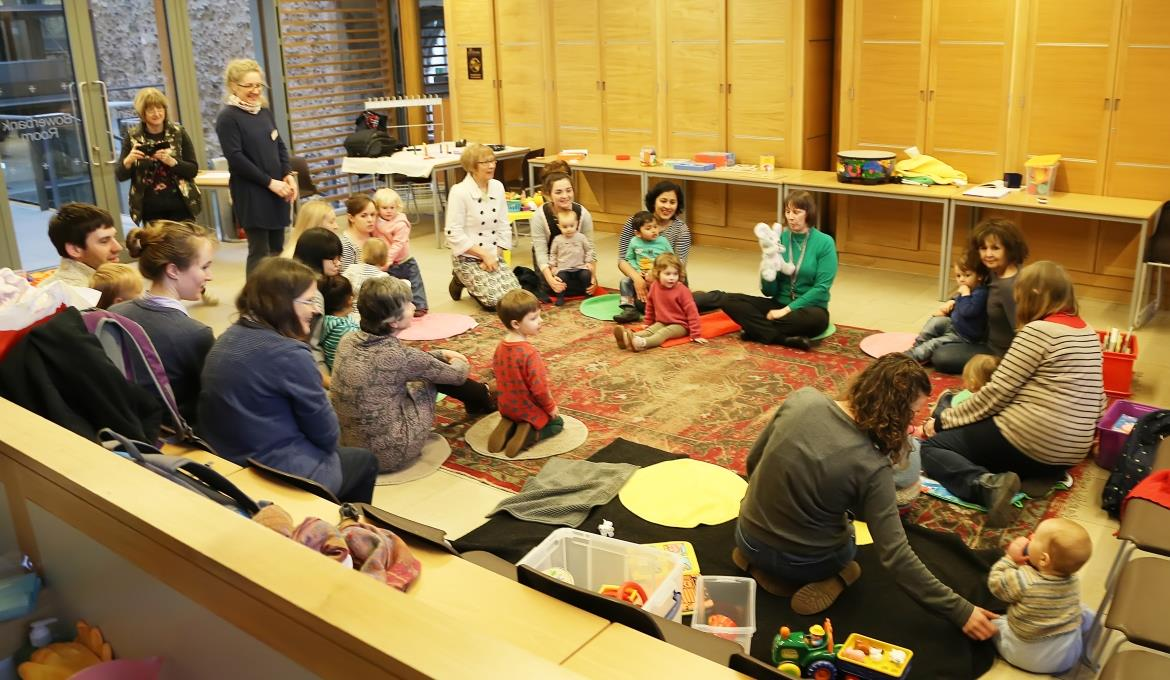 A picture of a Cathedral Tots session