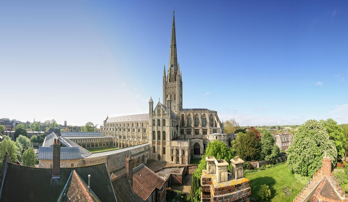 A picture of the Cathedral taken from the Dean