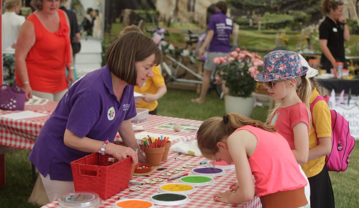 A picture of young people participating in crafts