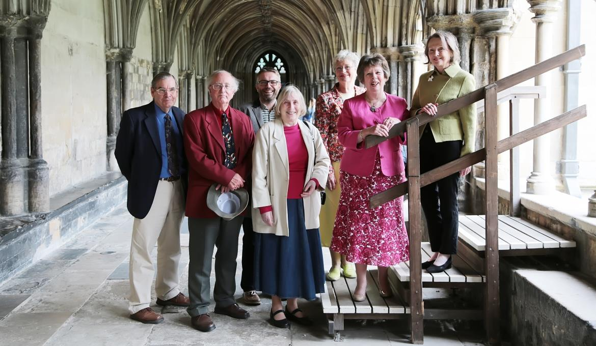 A picture of a group of Friends in the Cloisters