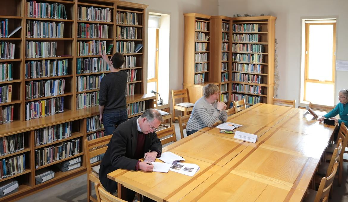 A picture of the reading room in the library