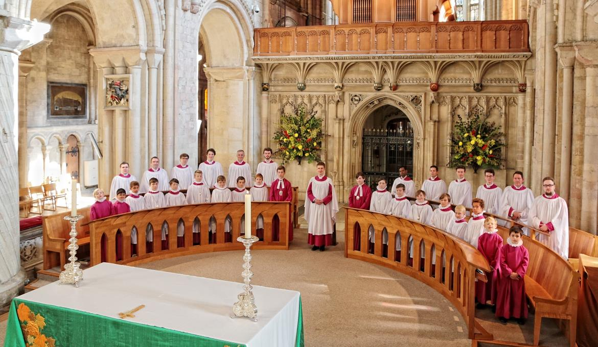 A picture of Norwich Cathedral Choir in the Nave
