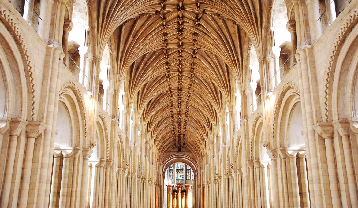 The view from the back of the Nave at Norwich Cathedral