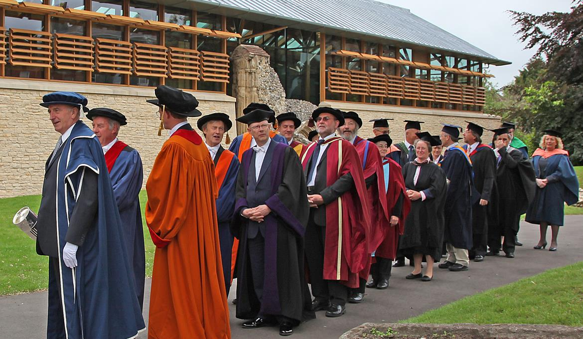 A picture of a University of East Anglia graduation service
