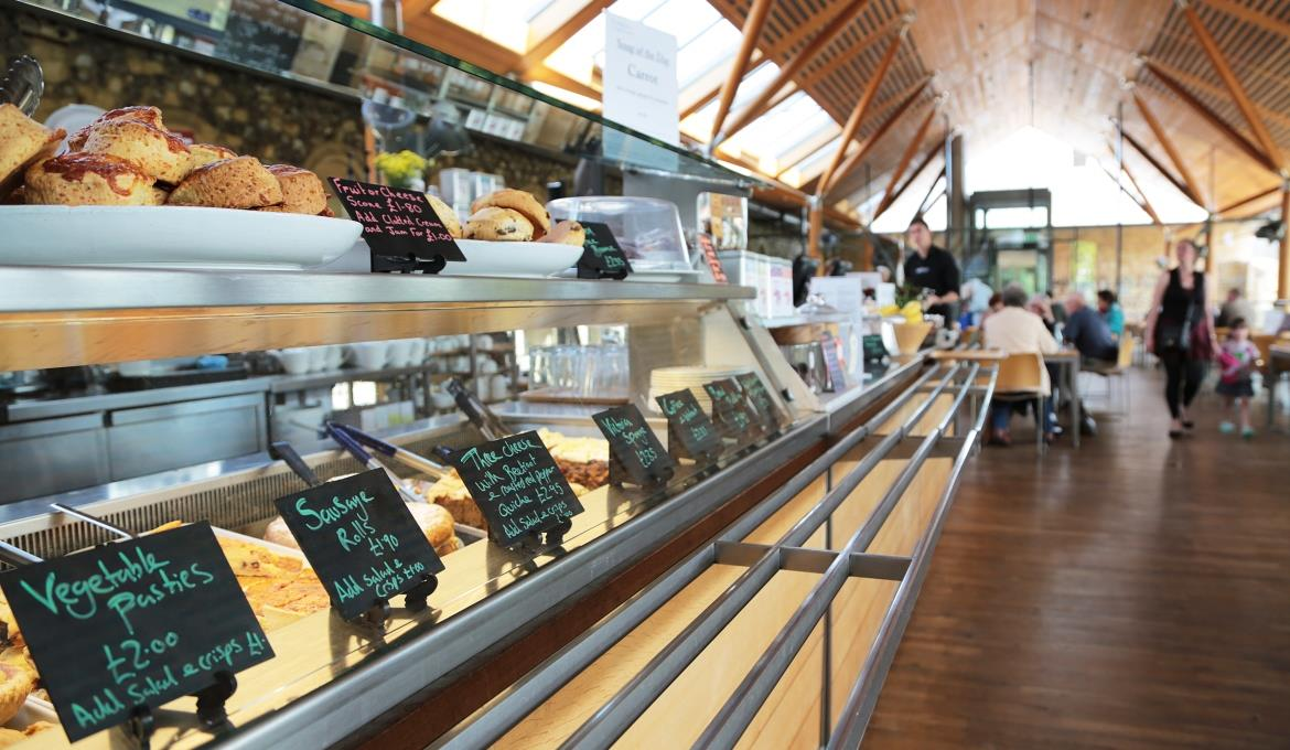 A picture of the counter in the refectory