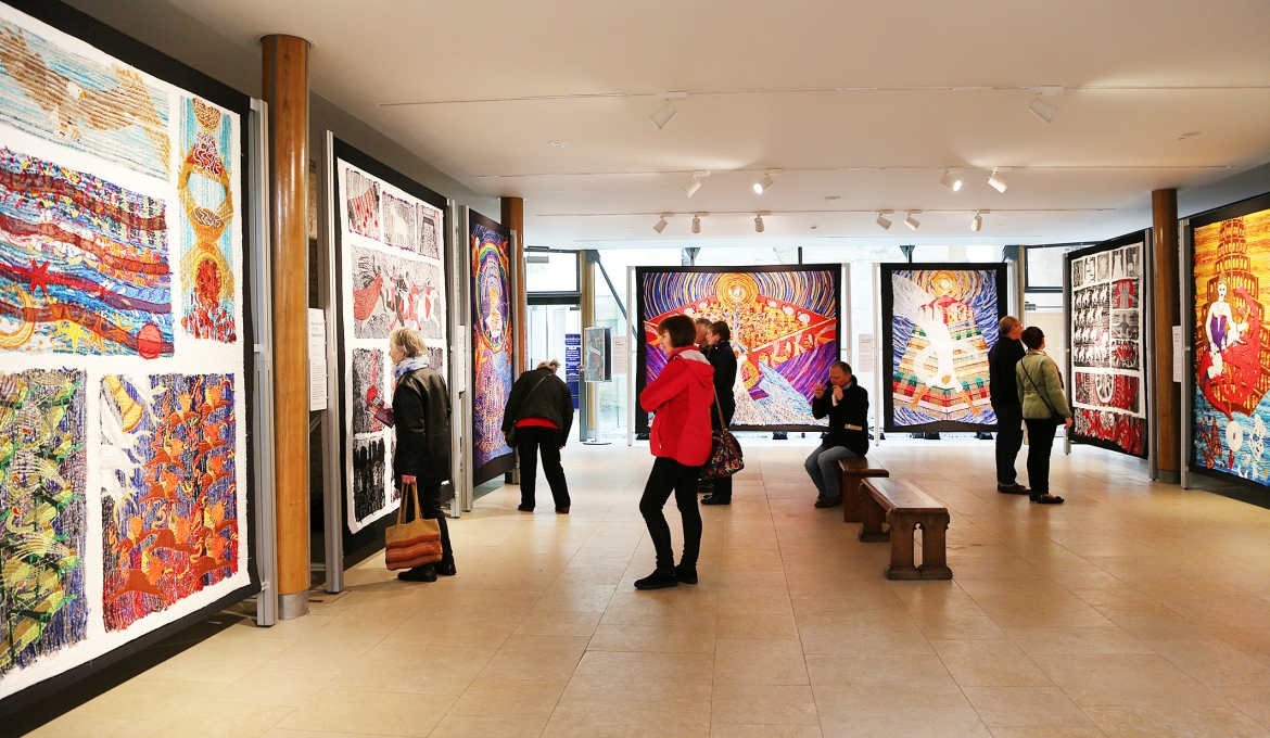 A picture of the Threads Through Revelation Exhibition