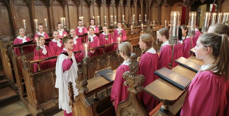 A picture of the Norwich Cathedral Girls