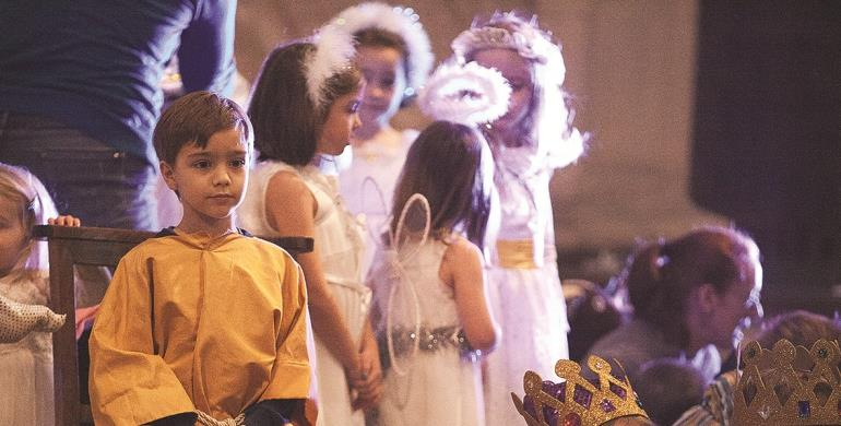 A picture of children at a Crib Service