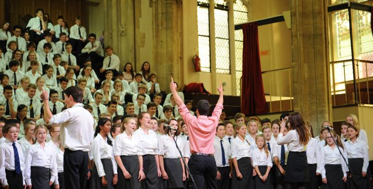 A picture of the Norwich School Chapel Choir