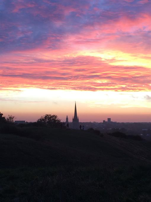 View from Mousehold, courtesy of @canarycaz