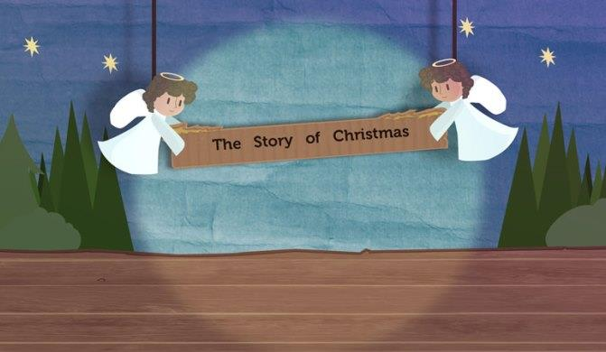A picture of a still from the Diocesan Christmas Film