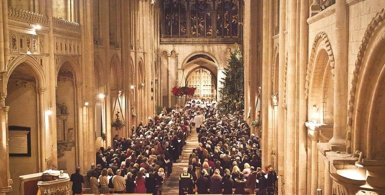 A Picture of a Christmas Procession