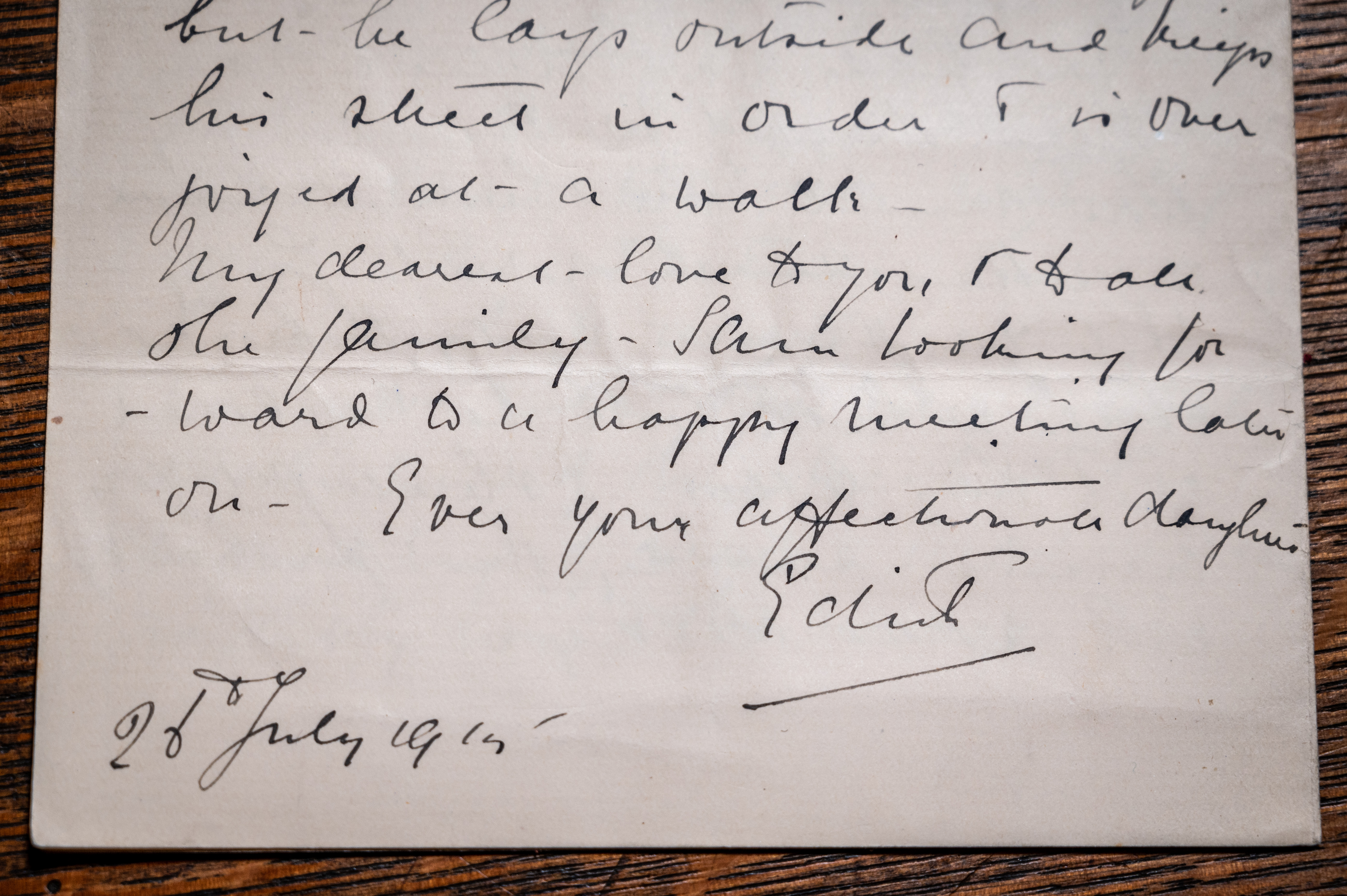 Edith Cavell letter (c) Bill Smith_Norwich Cathedral