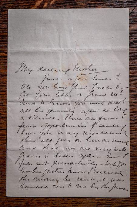 Page 1 of Edith Cavell letter (c) Bill Smith_Norwich Cathedral