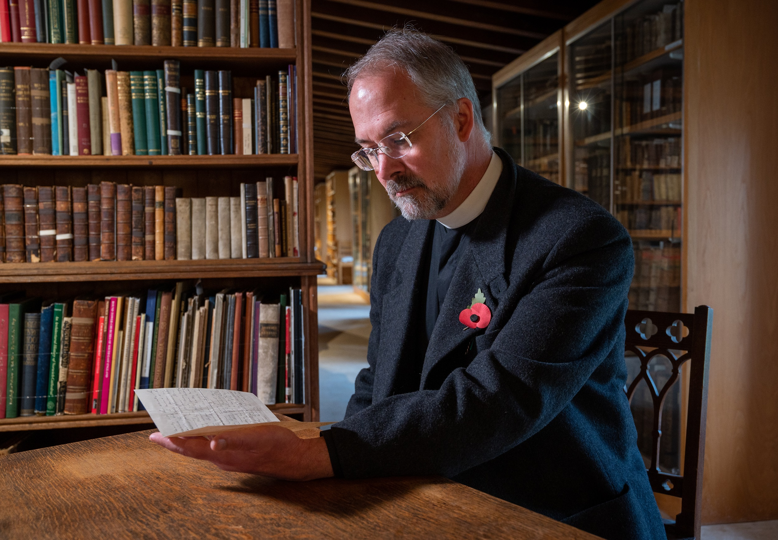 The Revd Dr Peter Doll reading the Edith Cavell letter